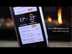 Control the temperature, flame and timer on your fireplace with your iPhone or Android device. Just don't be that cheesy guy who uses it on a first date. Alternative Energy, Air Purifier, New Technology, Android Apps, Inventions, Wifi, Smartphone, Iphone, Design Trends
