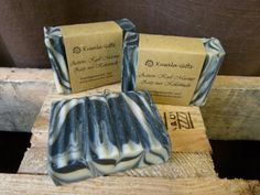 Active Charcoal Swirl Soap  Regular by KusalaGifts on Etsy