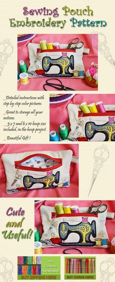 SEWING POUCH Embroidery Designs Free Embroidery Design Patterns Applique