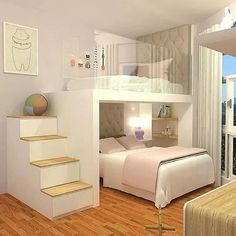 Adorable 43 Affordable Girls Bedroom Design Ideas For Small Rooms To Try Cute Bedroom Ideas, Modern Bedroom Decor, Girl Bedroom Designs, Stylish Bedroom, Awesome Bedrooms, Cozy Bedroom, Bed Ideas, Bedroom Kids, Master Bedroom