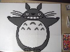Totoro perler beads (before ironing) by capricornc5 on deviantart