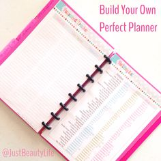 How to build your own planner. Links to printables and tools needed to get started.
