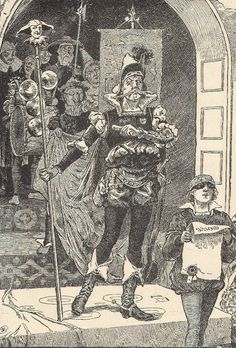 Old Black and White Drawing of the Lord of Misrule Distaff Day, Twelfth Night, Black And White Drawing, 12 Days Of Christmas, Epiphany, Darkness, City Photo, Lord, Train