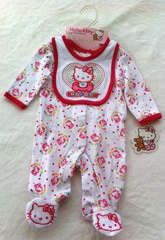 Amazon.com: Hello Kitty Baby-Girls Newborn 2 Pack Bodysuit ...
