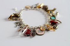 Fashon Lover's Bracelet  vintage fashonista charm by mabgraves