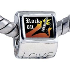 Pugster Bead Music Theme Rock On Photo Love European Charm Beads Fits Pandora Bracelet Pugster. $12.49. Bracelet sold separately. Fit Pandora, Biagi, and Chamilia Charm Bead Bracelets. It's the photo on the love charm. Hole size is approximately 4.8 to 5mm. Unthreaded European story bracelet design