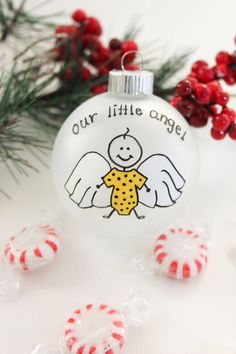 Our Little Angel Miscarriage Christmas Ornament - Personalized for Free via Etsy