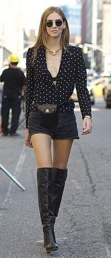 #spring #style   Sexy Black Polka Dot Blouse   The Blonde Salad