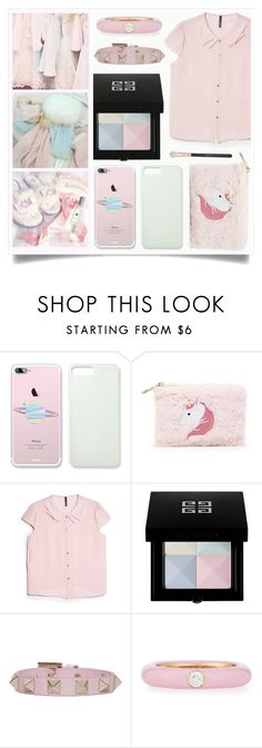 """Pastel Princess"" by racanoki ❤ liked on Polyvore featuring Forever 21, MANGO, Givenchy, Valentino, Adolfo Courrier, Morphe and RaCaNoKi"