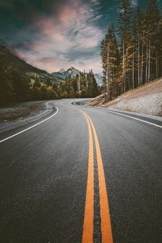 The Long and Winding Road Beautiful Roads, Beautiful Landscapes, Beautiful Places, Beautiful Sky, Best Photo Background, Winding Road, Nature Wallpaper, Pretty Pictures, Photo Backgrounds