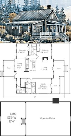 Looking for the best house plans? Check out the Block Island Cottage plan from Southern Living. Cabin Plans With Loft, Lake House Plans, Best House Plans, Dream House Plans, Small House Plans, House Floor Plans, Cottage House Plans, Cottage Homes, Farm House