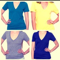 I think I own a v-neck shirt in about every color. they are my favorite shirts.