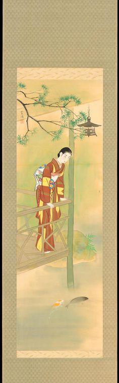 1930 - Kasamatsu, Shiro - Bijin Watching Carp