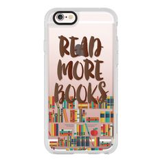 iPhone 6 Plus/6/5/5s/5c Case - Read More Books ($40) ❤ liked on Polyvore featuring accessories, tech accessories, iphone case, apple iphone cases, iphone cover case and iphone hard case