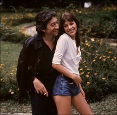 Serge Gainsbourg and Jane Birkin, 1970's.