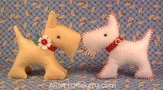 free pattern and great ideas for making this cute scottie!  allsorts.tyepad.com