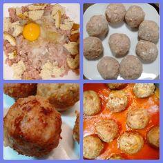 Muy fáciles y riquísimas Albóndigas caseras con tomate Ingredientes 500g de carne picada 1 cebolleta rallada Ajo-perejil 1 huevo entero 1 rebanada de pan de molde (yo le echo los bordes) (1 Rc de Hc) 30 g de harina (2 Rc de Hc) Aceite de oliva 200g de tomate frito el envasado lleva azúcares añadidos y contiene 10g/100g (mejor casero) Sal Procedimiento En un bol grande ponemos la carne picada echamos ajo-perejil al gusto una cebolleta rallada una rebanada de pan de molde una pizca de sal y un…