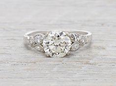 1.61 Carat Vintage Art Deco Engagement Ring