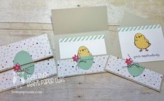 "By Beth Rush. Features stamp from ""Honeycomb Happiness"" by Stampin' Up. Photo tutorial on her website. So cute!"