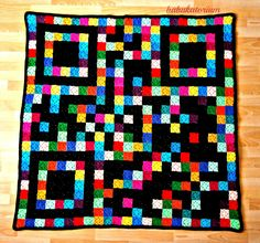 Qr Code Pixel Crochet Blanket. $480.00, via Etsy. This chick is amazing.