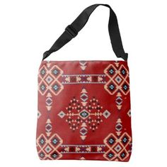 "Title : 29 Tribal Native American Red Symbolic Print.JPG Crossbody Bag  Description : Words to describe Tribal; ""Native-American's, Indian, Tribes, ""Tribal-Prints"", ""Geometric-Patterns"", ""Miscellaneous-Shapes"", Diamonds, Squares, Arrows, ""Repetitive-Patterns"", ""Fabric-Weaving"", Tapestry, Beads, ""Animal-Bones"", ""Ethnic-Tribes"", Cultural, Cultures, ""Southwest-Patterns"", ""Animal-Pattern-Prints"", ""Ethnic-Prints"", Ganado, ""Native-Traditional-Patterns"", Ikat, ""Navajo-Art"", Weaving…"