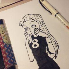 #Inktober 8 #girls by anna_cattish
