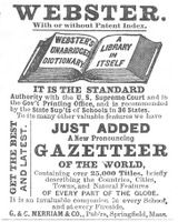 Websters Unabridged Dictionary 1886 Ad via Old Magazines, Old Ads, Magazine Ads, House And Home Magazine, New Words, Vintage Ads, Read More, Vocabulary, Advertising