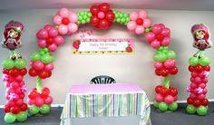 decoracion de rosita fresita con globos - Buscar con Google