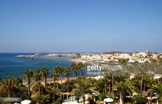 02-28 With palm trees in the foreground a view across the town... #paphos: 02-28 With palm trees in the foreground a view across… #paphos