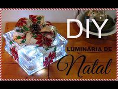 DIY | ENFEITE DE NATAL | COM TIJOLO DE VIDRO| LETICIA ARTES