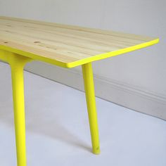Have seen a 60's table that i was planning to paint white with orange legs - yes it will work!