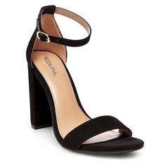TARGET Women's Lulu Block Heel Sandals - Black 5.5 - Merona™ : Target