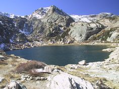 Blue Bird Lake in Rocky Mountain National Park.