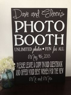 Wedding Photo Booth Sign by IDoSignDesigns on Etsy, $40.00