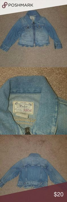Ralph Lauren baby girl jean jacket 18mth Ralph Lauren baby girl jean jacket.  Daughter wore it a couple of times. In great condition.  Great for the fall Ralph Lauren Jackets & Coats Jean Jackets