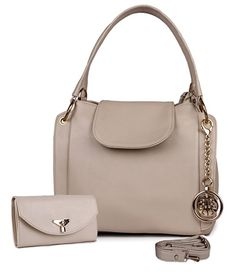 Classic Fashion Cream Color Handbag Combo for Women and Girls - Gia Designer Classic Fashion, Classic Style, Beige Color, Leather Material, Bag Making, Fashion Bags, Handbags, Cream, Women Bags