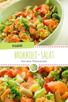 Karotten-Brokkoli-Salat aus dem Thermomix Broccoli salad from the Thermomix®️ salad Cashew and carrot salad with apple and basil – rawCreamy Low Carb Pumpkin and Carrot Soup – Healthy, eQuick couscous salad from the Thermomix® Easy Beef And Broccoli, Broccoli Recipes, Cauliflower Recipes, Broccoli Cauliflower, Detox Recipes, Raw Food Recipes, Beef Recipes, Vegetarian Recipes, Easy Taco Salad Recipe