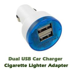 Dual USB Car Charger Cigarette Lighter Adapter. $6.99