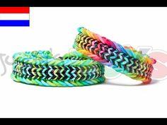 Rainbow Loom Nederlands, Fishtail Sandwich, armband - YouTube