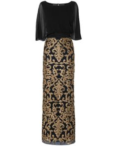 Noto Full Length Sequin Dress. A baroque dress perfect for the Christmas party or black tie event