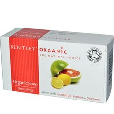 Bentley Organic Soap - Detoxifying Grapefruit Lemon and Seaweed Astringent grapefruit and lemon combine with seaweed to purify and tone the skin, with stimulating citrus aromas.  Bentley Organic Soap is Soil Association Certified providing an environmentally sustainable natural choice.