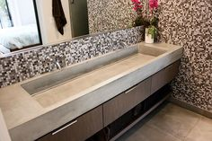 Concrete Trough Sink - Concrete Wave Design | Concrete Sinks, Concrete Countertops, Concrete Firepits, Concrete Furniture