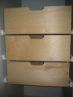 built in drawers for the closet