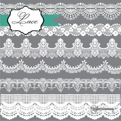 Instant Download Lace in Black and White by TanglesTreasures, $4.50