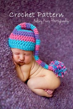 Newborn Pixie Hat Pattern - via @Craftsy