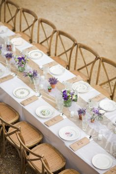 Rustic table: http://www.stylemepretty.com/2014/11/14/summer-chateau-south-of-france-wedding/ | Photography: Marianne Taylor Photography - http://mariannetaylorphotography.co.uk/