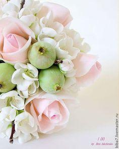 Wedding polymer clay bouquet / Цветы ручной работы. Ярмарка Мастеров - ручная работа. Купить Свадебный букет из полимерной глины Керамическая флористика. Handmade. розовый
