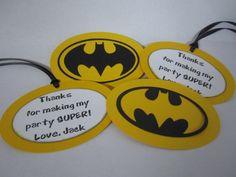 Batman Party Favor Tags via Etsy.