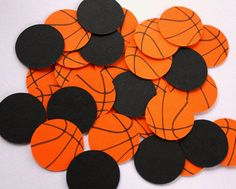Basketball Confetti . Sports Themed Table Confetti . Basketball Party Decor. Basketball Birthday Decorations . Sports Confetti . Diecuts by ForeverYoursTruly on Etsy https://www.etsy.com/listing/255533008/basketball-confetti-sports-themed-table