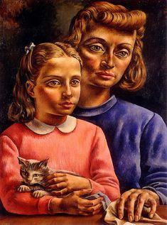 Obra de Berni - El gato gris (1936)